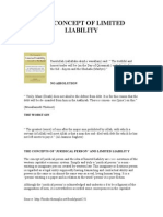 The Concept of Limited Liability