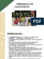 Embarazo en Adolescentes 2011