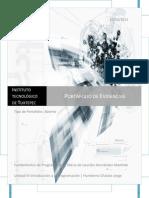Portafolio de Evidencias Unidad III Introducción a la Programación