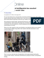 Britain´s libersl intelligentisa has smashed virtually every social value