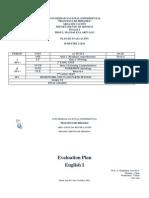 Plan de Evaluaciòn English 2-2011