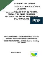 Informe Curso Areas Protegidas y Educacion Calixto Alonzo