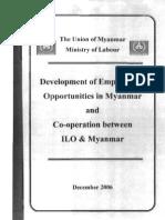 Development of Employment Op Pert Unities in Myanmar