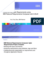 Agile Requirements Using RRC in CALM