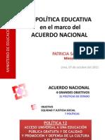Politica Educativa Acuerdo Nacional 2011