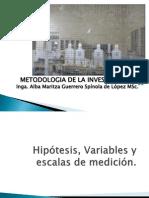 Variables y escalas de medici+¦n