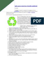 40 prácticas simples para conservar el medio ambiente