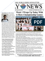 MSBL World Series Daily News - Oct 23 2011