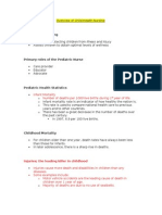 Overview of Child Health Nursing Lecture Notes Pediatrics