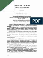 REcommandation No R (84) 21) acquisition par les réfugiés de lanationalité du pays d'accueil- section 3-1-a
