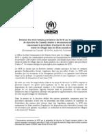 Commentaires provisoires du UNHCR sur   des normes minimales concernant la procédure d'octroi et de retrait du statut de réfugié dans les États membres- section 3-2-b