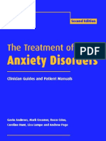 The Treatment of Anxiety Disorders Clinician Guides and Patient Manuals