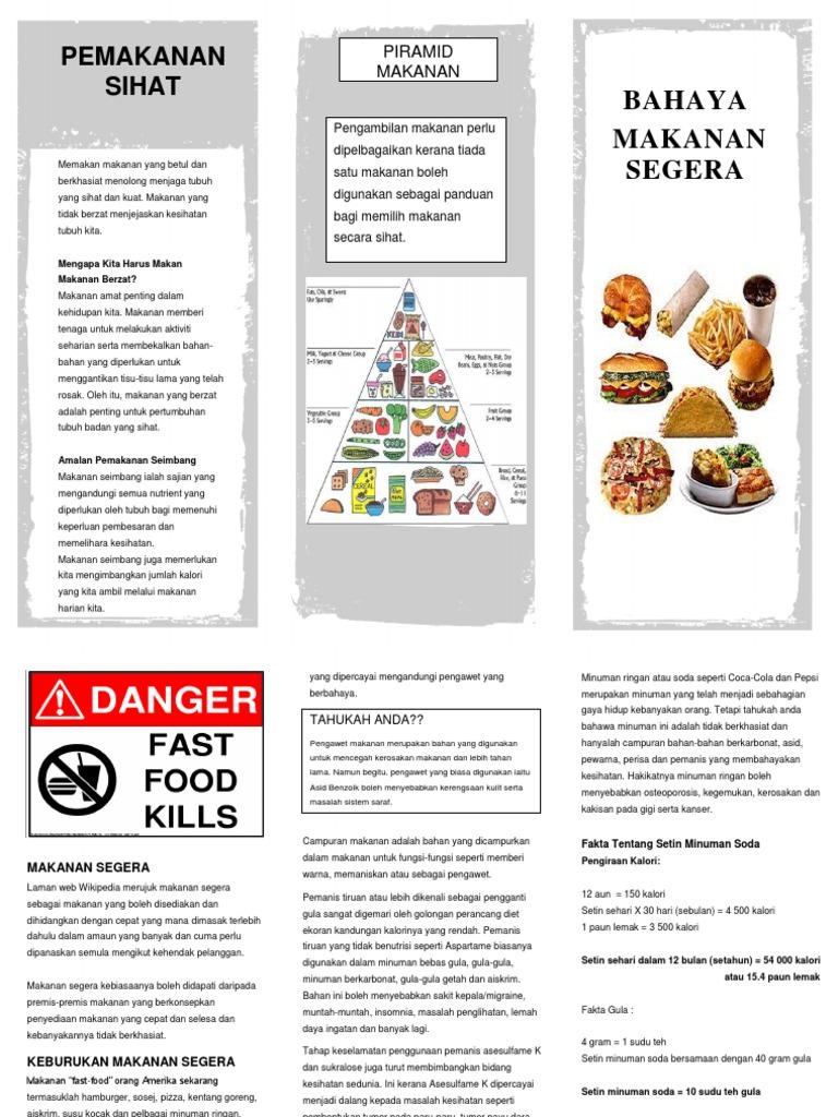 Contoh Brosur Amalan Pemakanan Yang Sihat Brad Erva Doce Info