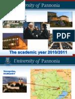 University of Pannonia 2010-2011