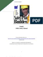 Sample OSHA Safety Manual