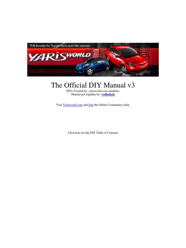 Vios/Yaris '07 DIY Manual | Nut (Hardware) | Lock (Security Device)