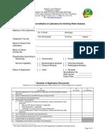 Application Water Analysis