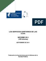 Servicios Sanitarios de Las CCAA, Informe 2011