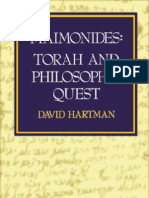 19722925 0827602553 David Hartman Maim on Ides Torah and Philosophic Quest Jewish Publications Society