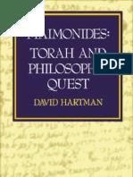 19722925 0827602553 David Hartman Maim on Ides Torah and Philosophic Quest Jewish Publications Society