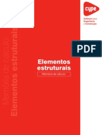 Elementos Estruturais Memoria de Calculo