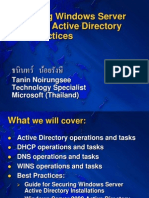 Managing Windows Server 2003 and Active Directory Best Practices