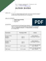 Sharma Saurabh Resume New