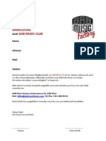 GAB MUSIC CLUB Anmeldung/Aktion