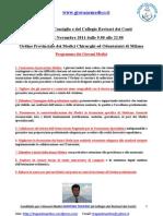ELEZIONI ORDINE DEI MEDICI DI MILANO 19-20-21 NOVEMBRE 2011