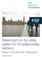 Electoral Commission - Report on the May 2011 Referendum