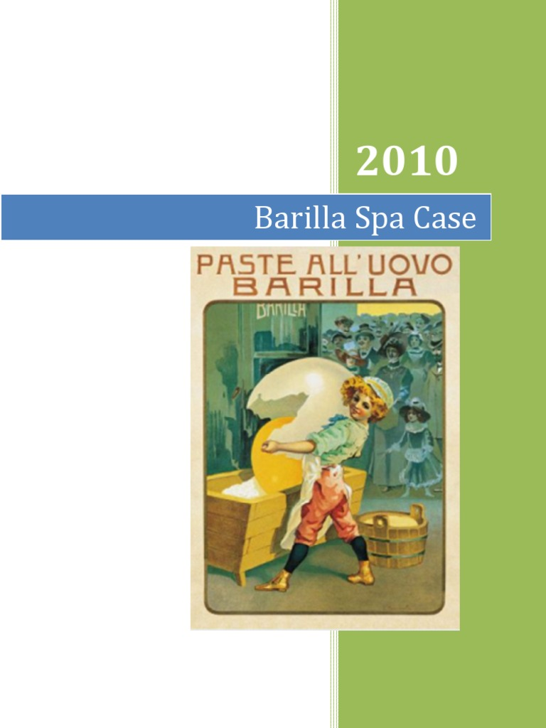 barilla spa case combined inventory logistics