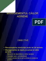 Management Cai Aeriene-Ventilatia