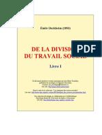 Durkheim - De La Division Du Travail Social