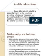 Comfort and the Indoor Climate