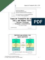 Capas de Transporte del Modelo Osi y del Modelo Tcp Ip