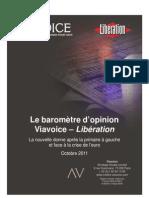 Viavoice Libération. 24 octobre 2011
