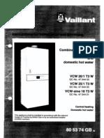 Vaillant VCW-sine 18 T3WF H Boiler Manual