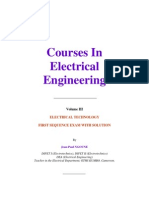 Homework in Electrical Technology and Power Electronics