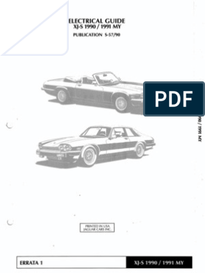 XJS 1990 1991 Elec Guide Xj Wiring Diagram Pdf on