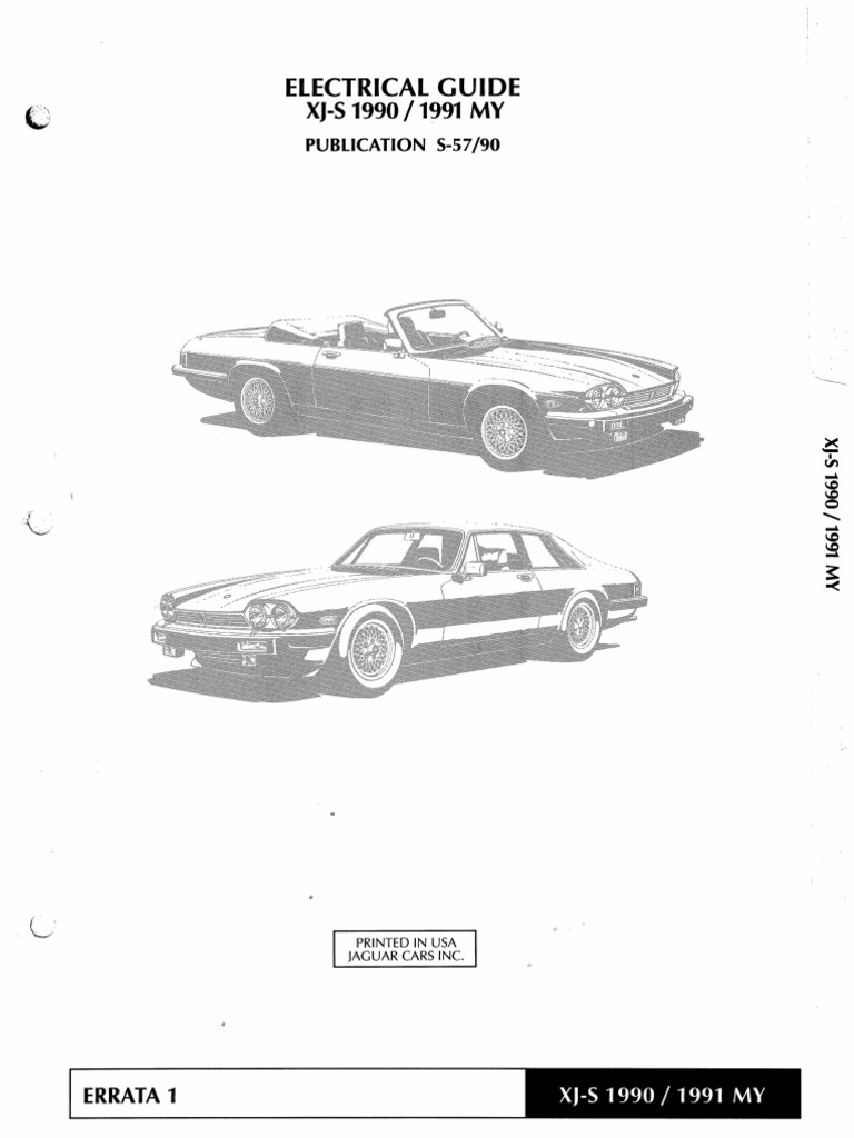 XJS 1990 1991 Elec Guide  Jag Xjs Wiring Diagram on