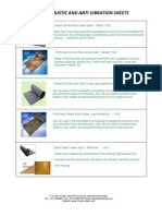 Acoustic and Anti Vibration Sheets