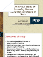 An Analytical Study on Assessing Human Competencies Based