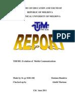Evolution of Mobile Communication (Автосохраненный)