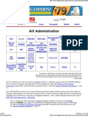 AIX Administration   File System   Installation (Computer
