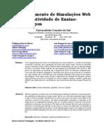 Desenvolvimento de Simulações Web para uma Atividade de Ensino-Aprendizagem