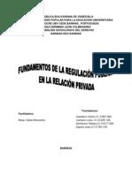 FUNDAMENTOS DE LA REGULACIÓN PÚBLICA EN LA RELACIÓN PRIVADA