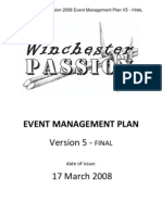 Winch Ester Passion Event Management Plan v5-FINAL R