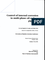 Control of Internal Corrosion in multi-phase Oil and Gass