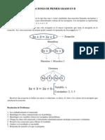 Ecuaciones de Primer Grado en R