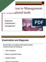 Management of Traumatized Teeth